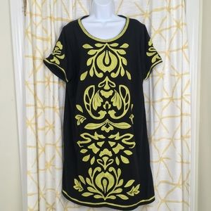 INC Embroidered Neon T Shirt Dress